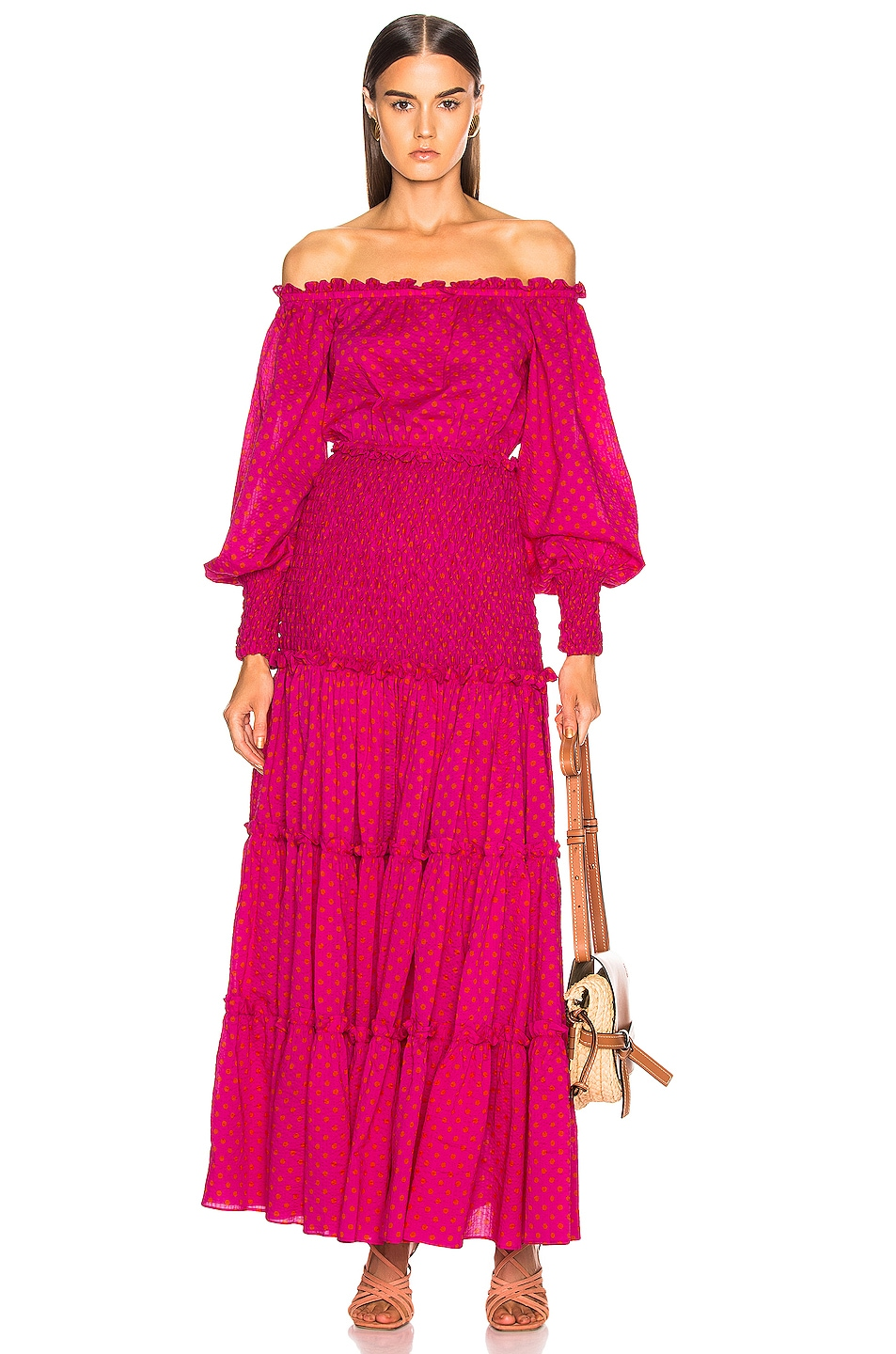 Image 1 of Alexis Thalssa Dress in Fuchsia Dot