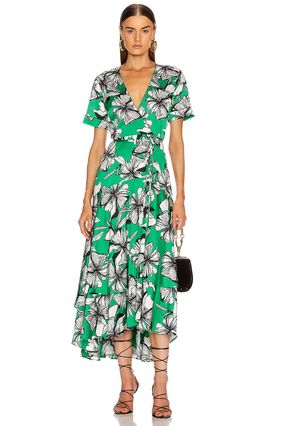 Image 1 of Alexis Deanna Dress in Emerald Floral