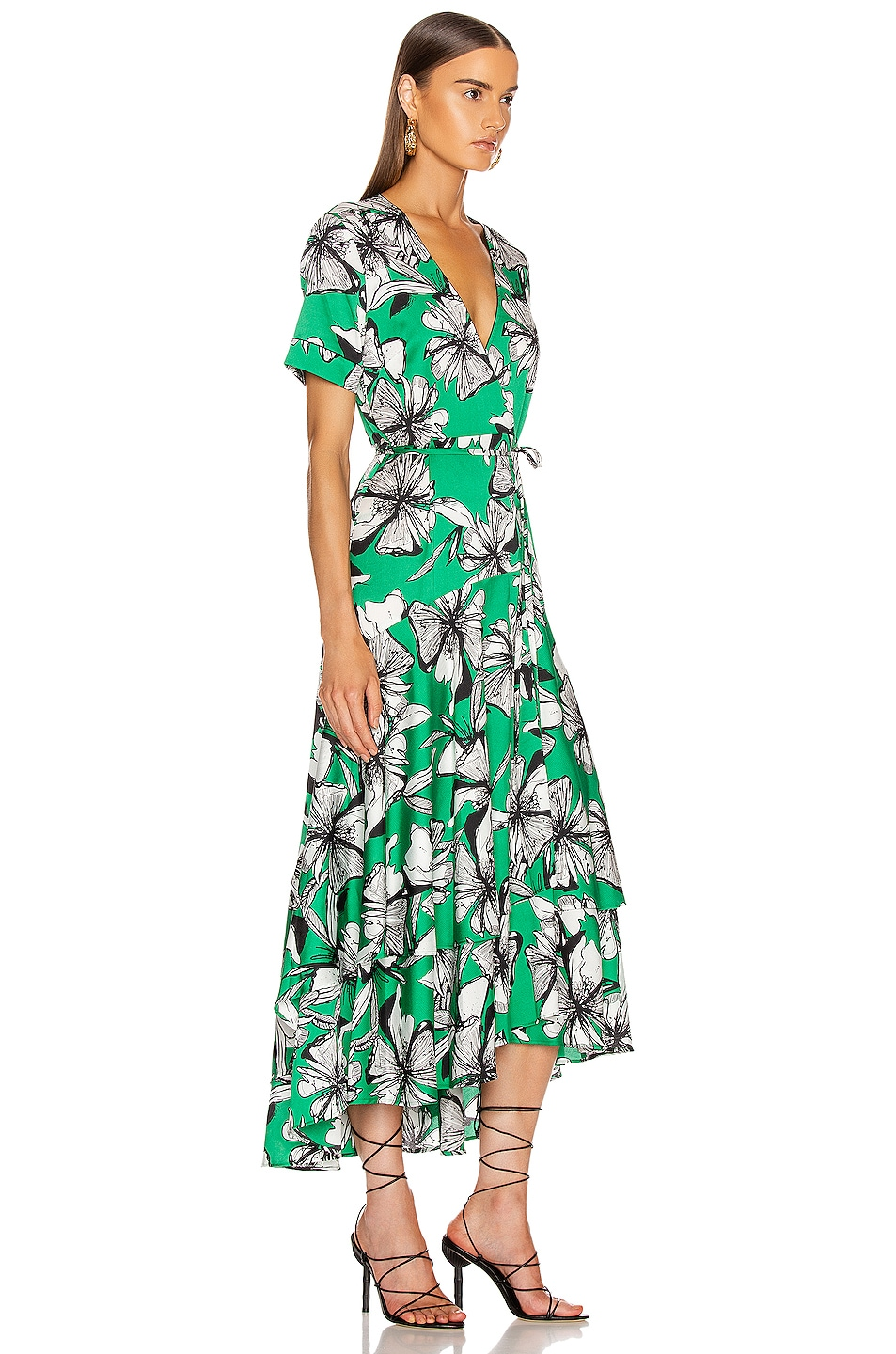 Image 2 of Alexis Deanna Dress in Emerald Floral