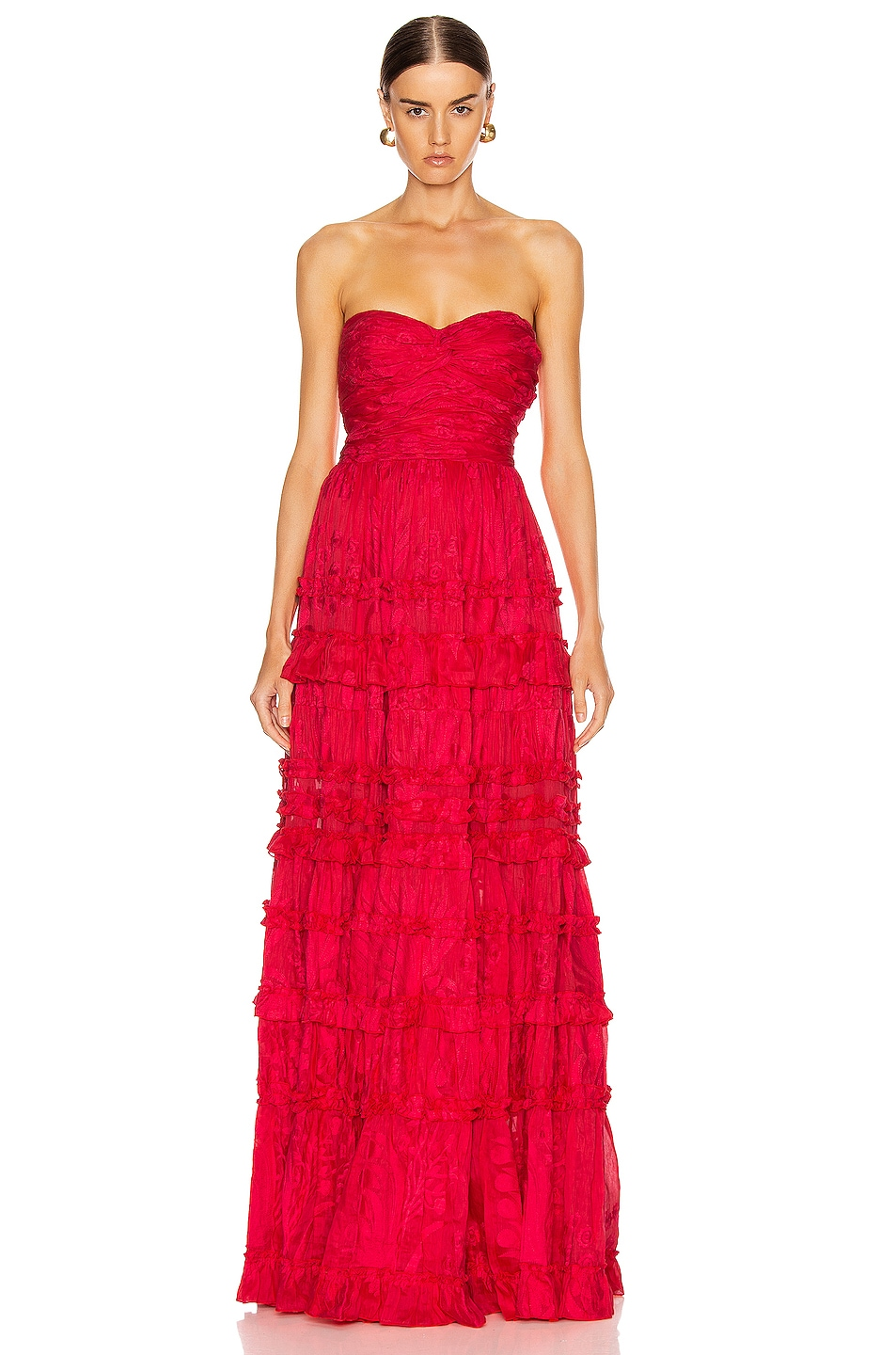 Image 1 of Alexis Allora Gown in Red Azalea