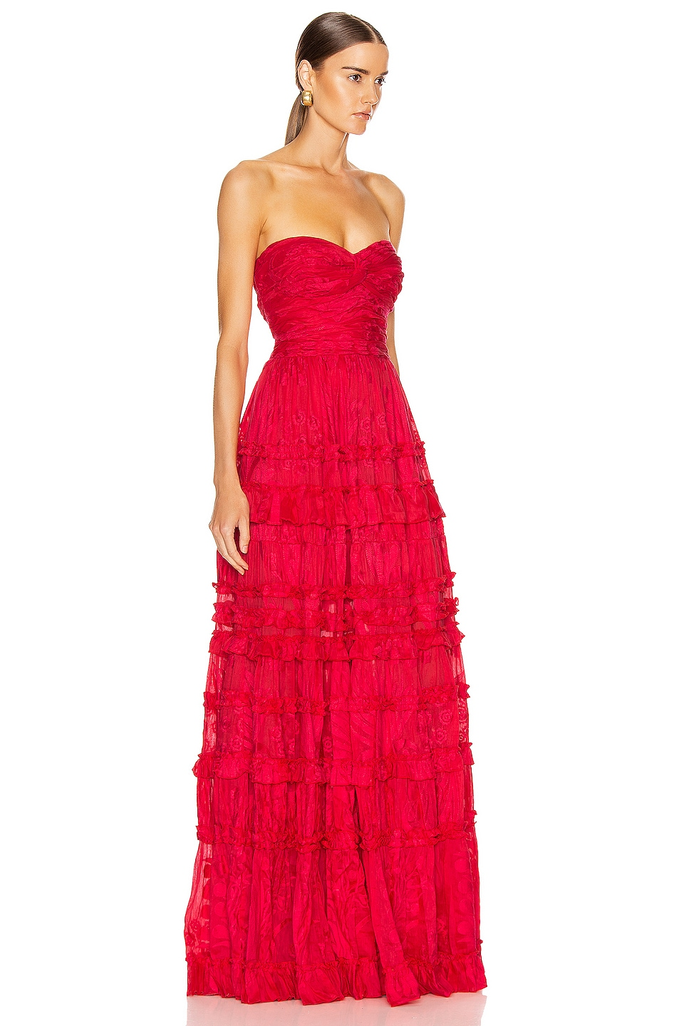 Image 2 of Alexis Allora Gown in Red Azalea