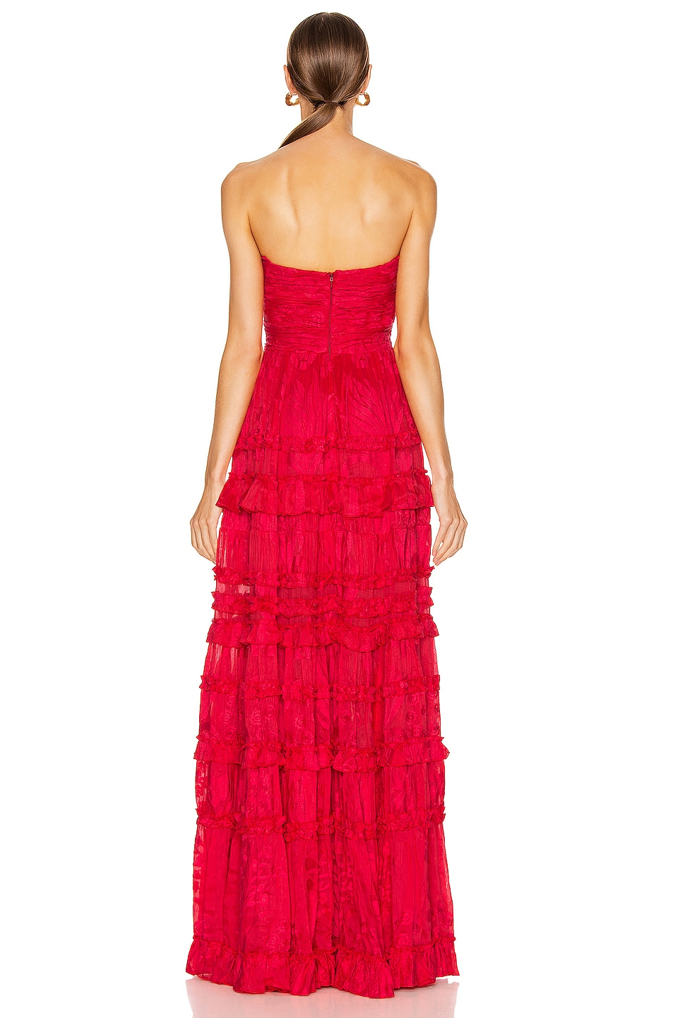 Image 3 of Alexis Allora Gown in Red Azalea