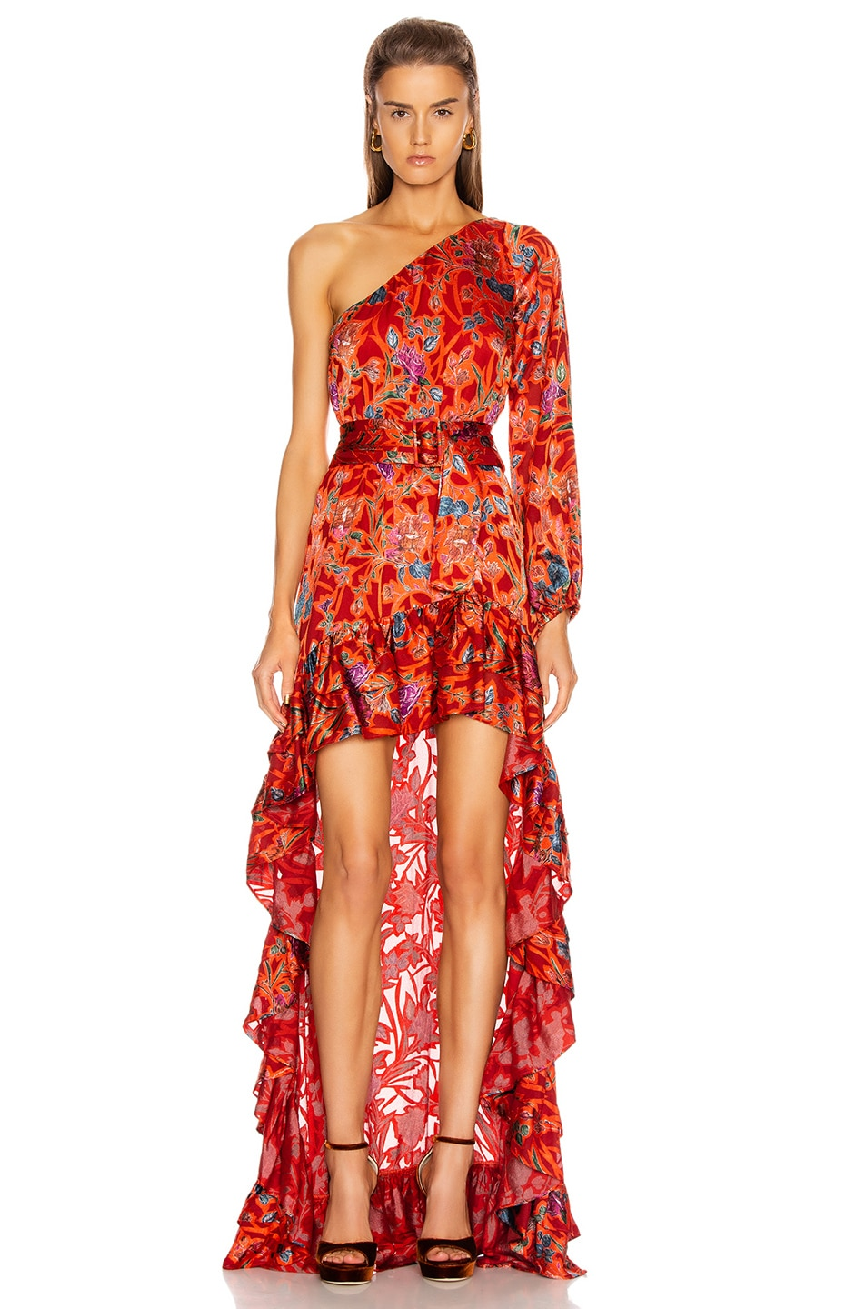 Image 1 of Alexis Marseill Dress in Red Flor