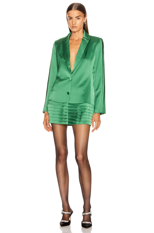 Image 1 of Alexis Oskari Dress in Emerald Green