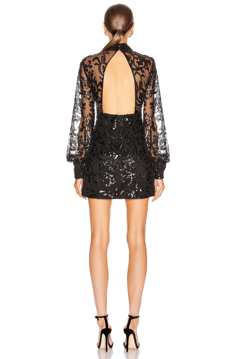 Image 3 of Alexis Franciska Dress in Beaded Black