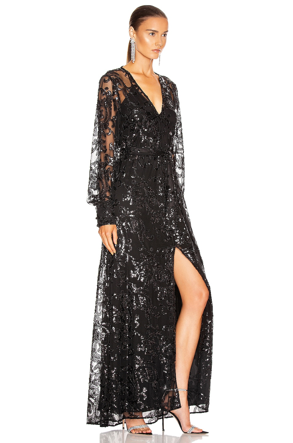 Image 2 of Alexis Biata Dress in Beaded Black
