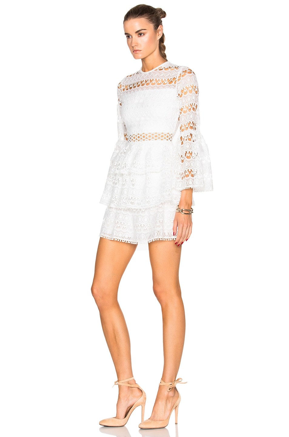 Image 2 of Alexis Gem Dress in White Embroidery
