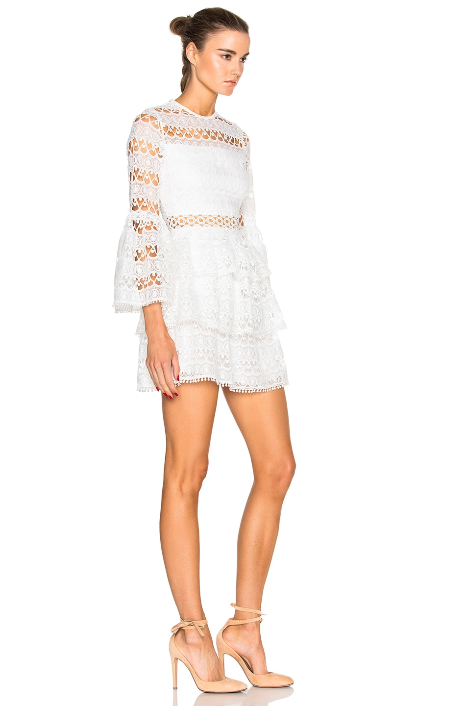Image 3 of Alexis Gem Dress in White Embroidery