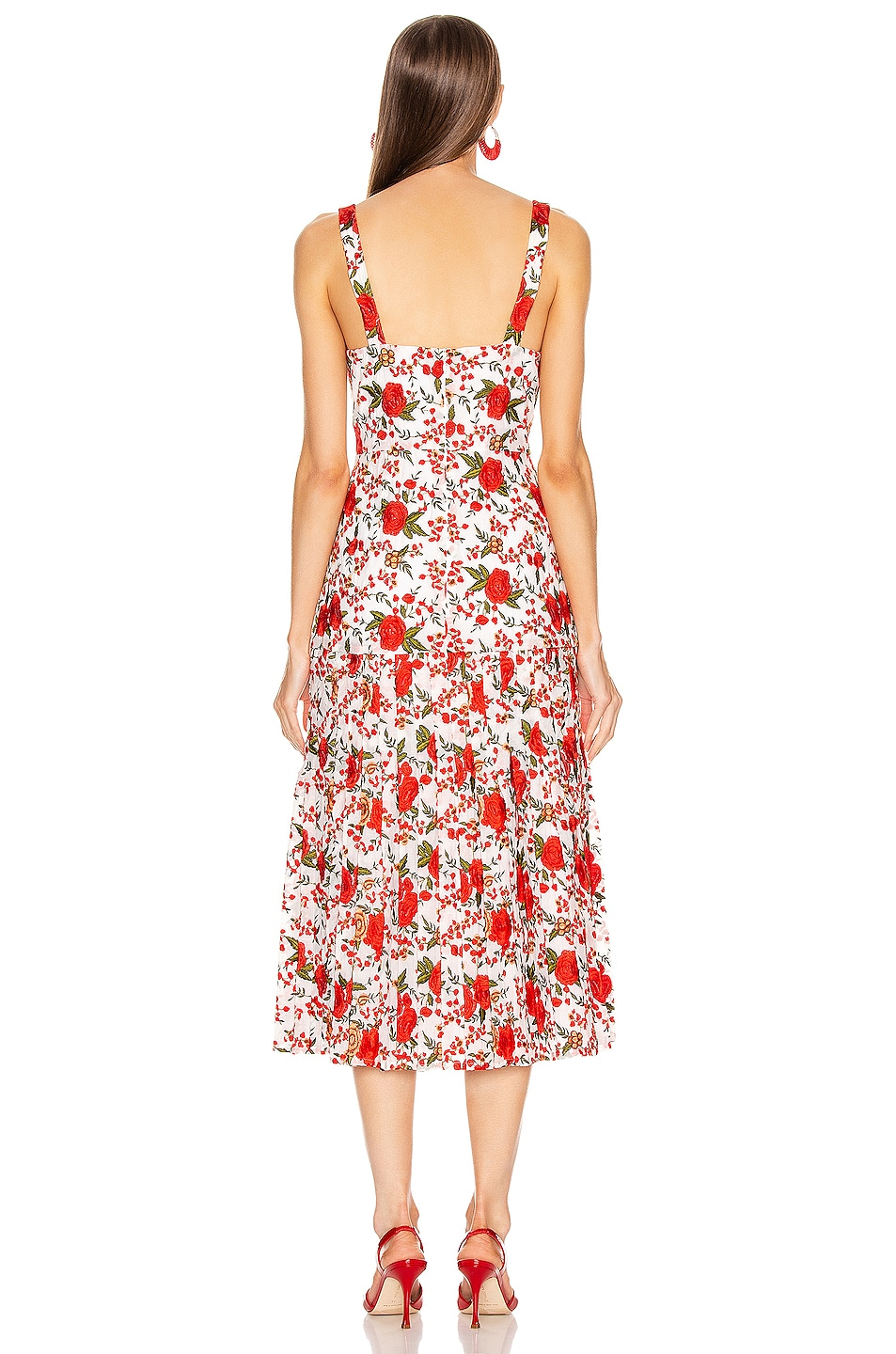 Image 3 of Alexis Amal Midi Dress in Rose Embroidery