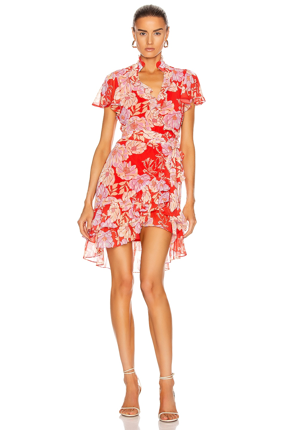 Image 1 of Alexis Melyssa Dress in Red Floral