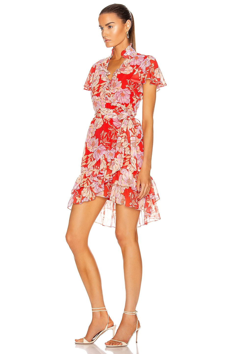 Image 3 of Alexis Melyssa Dress in Red Floral