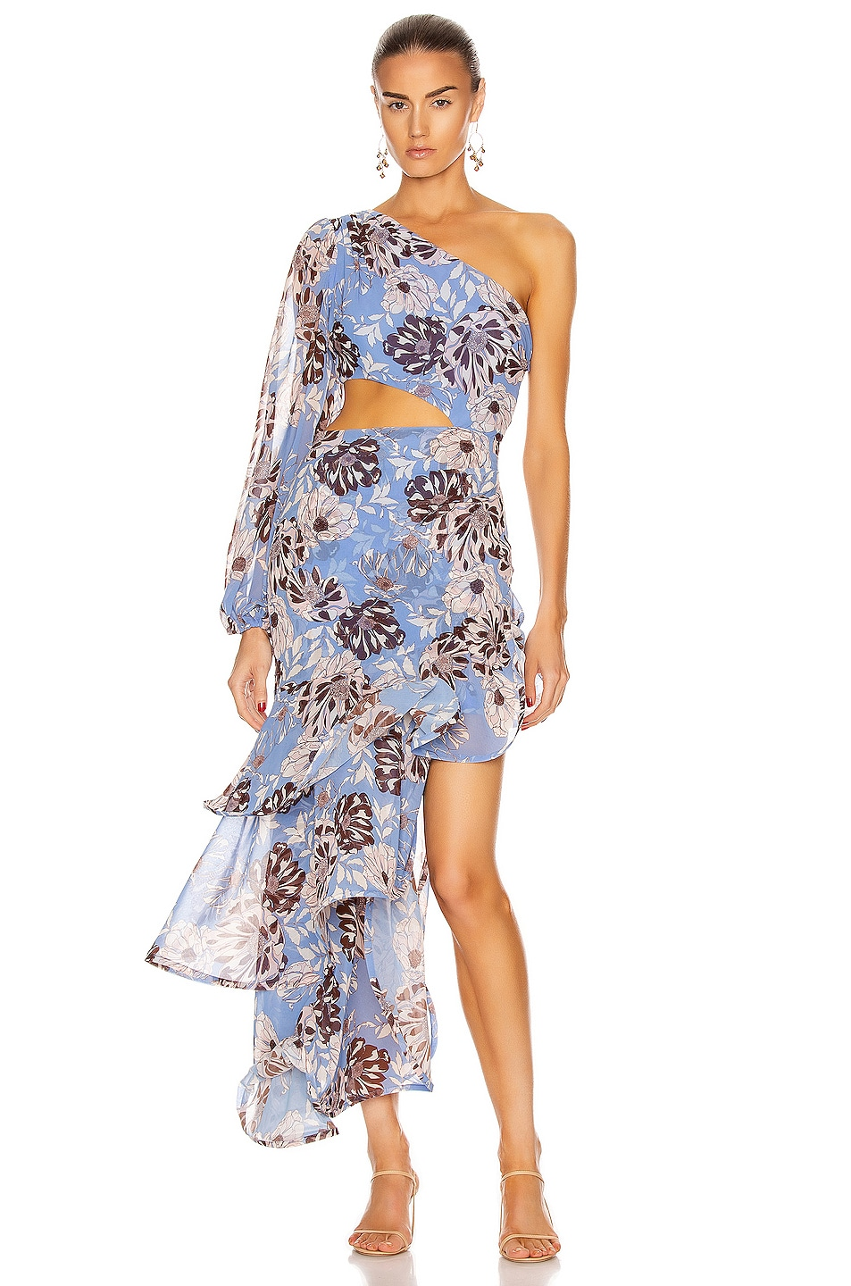 Image 1 of Alexis Sabetta Dress in Blue Floral