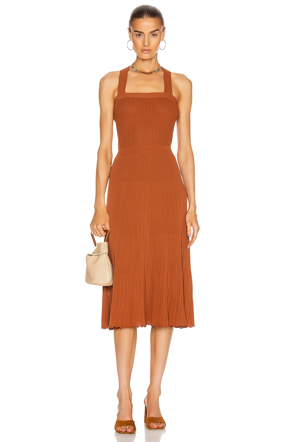 Image 1 of Alexis Bess Dress in Rust