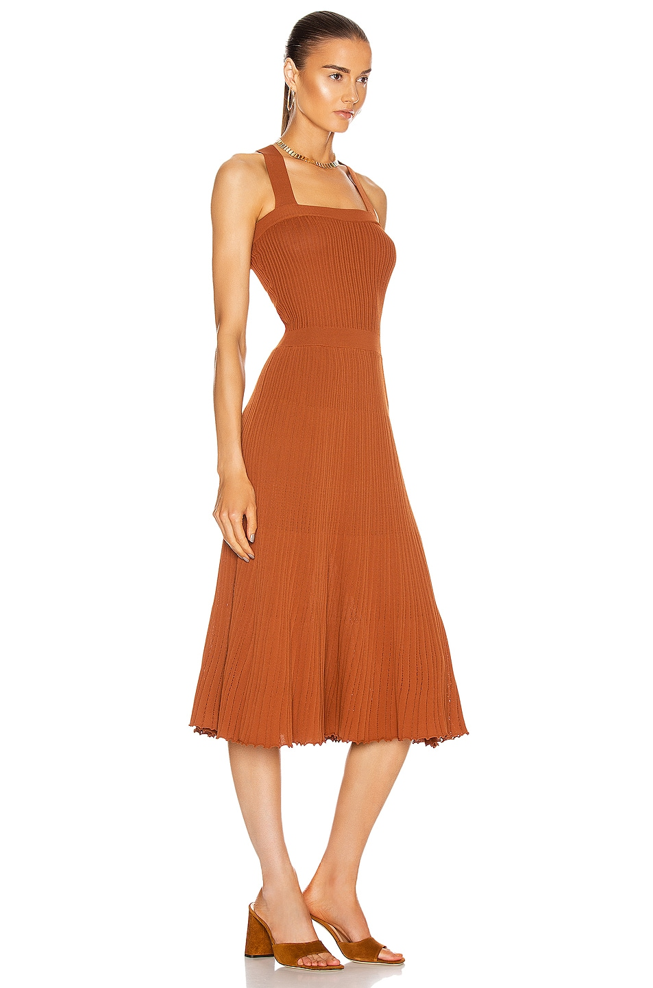 Image 2 of Alexis Bess Dress in Rust