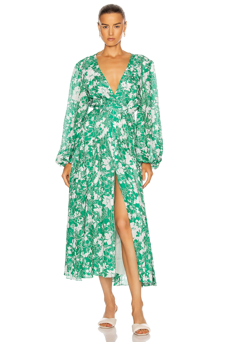 Image 1 of Alexis Kazmera Dress in Emerald Floral