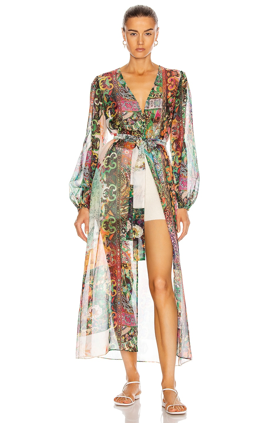 Image 1 of Alexis Shoshanna Dress in Embroidered Emerald