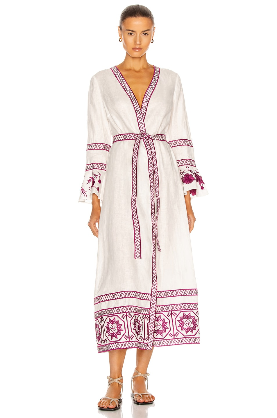Image 1 of Alexis Mahita Maxi Dress in Berry Embroidery