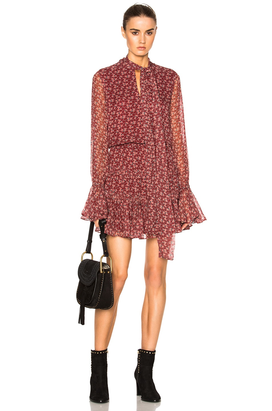 Image 1 of Alexis Elida Dress in Rust Floral