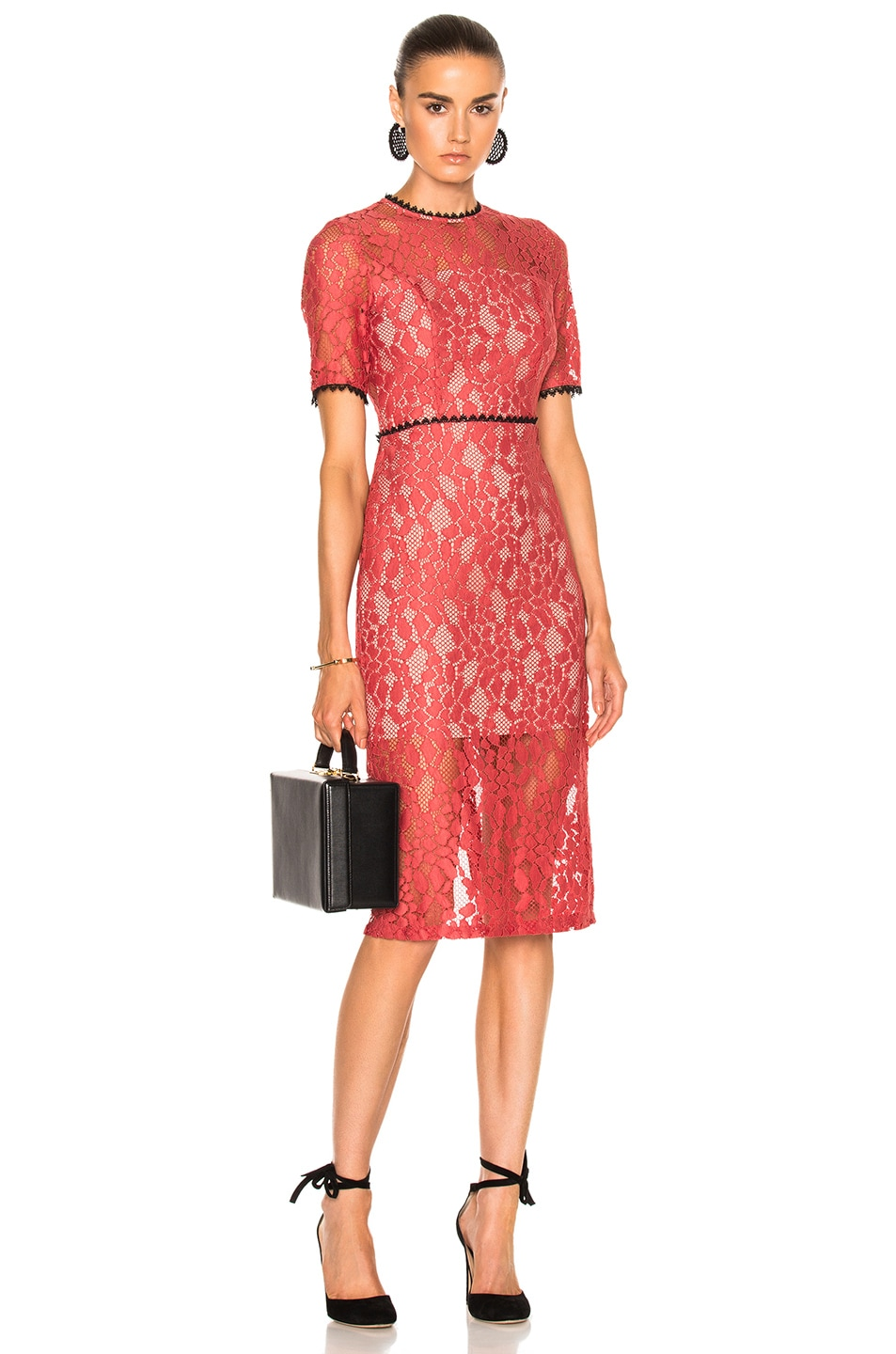 Image 1 of Alexis Remi Dress in Salmon Lace