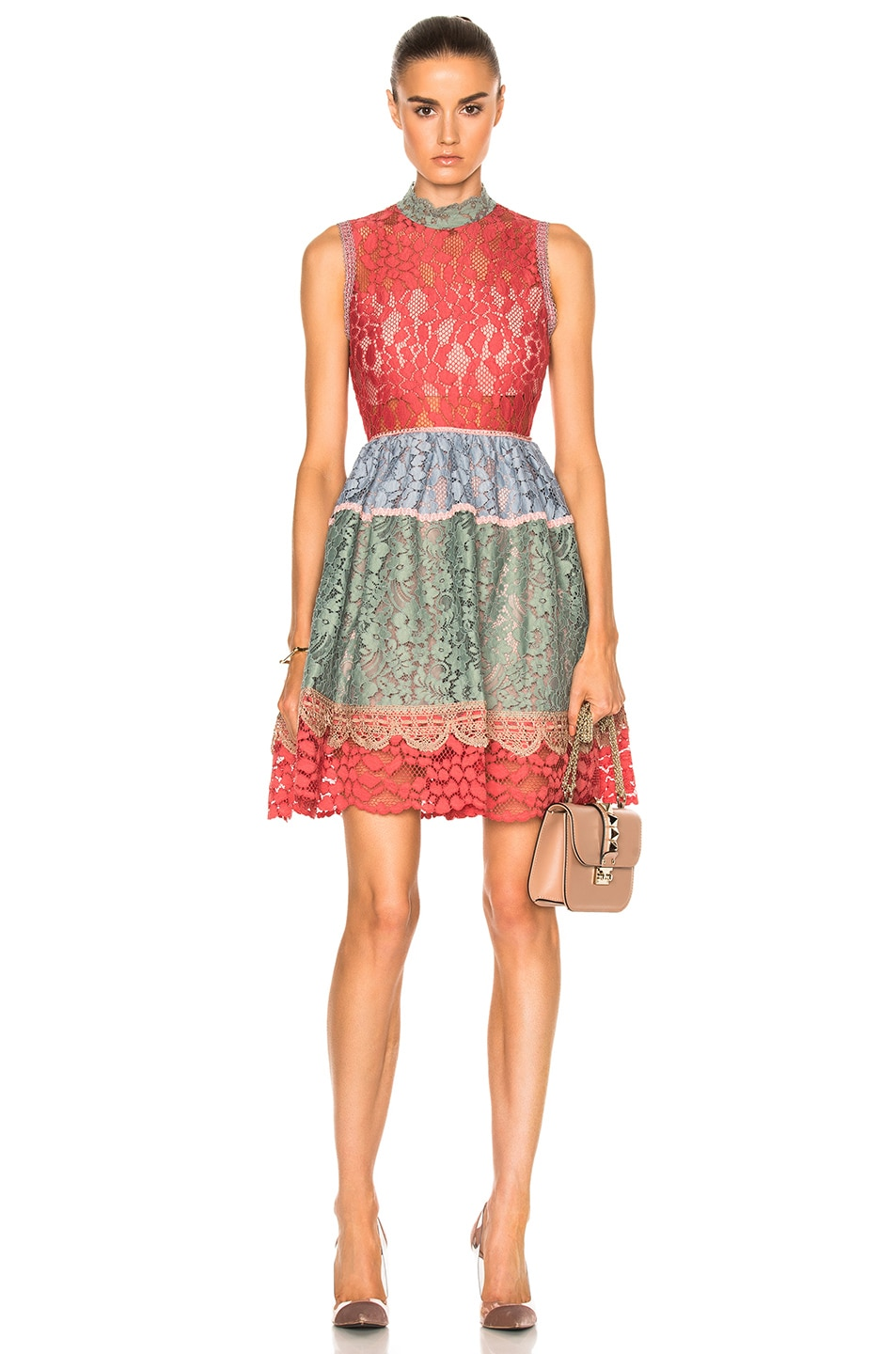 Image 1 of Alexis Vedette Dress in Multicolor Lace