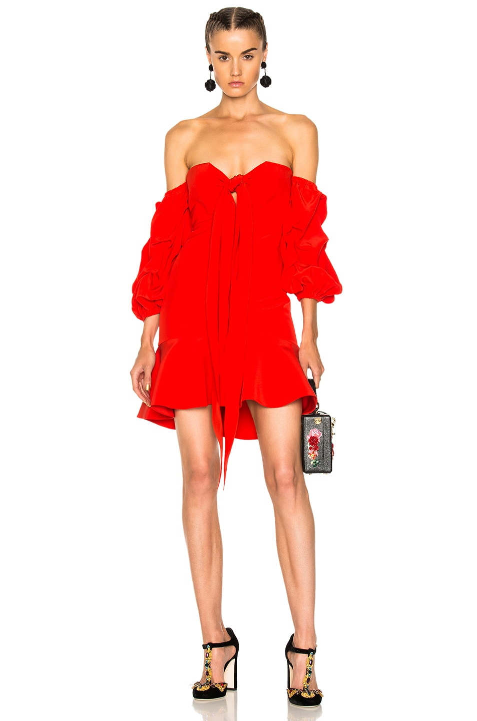 Image 1 of Alexis for FWRD Alejandra Dress in Red
