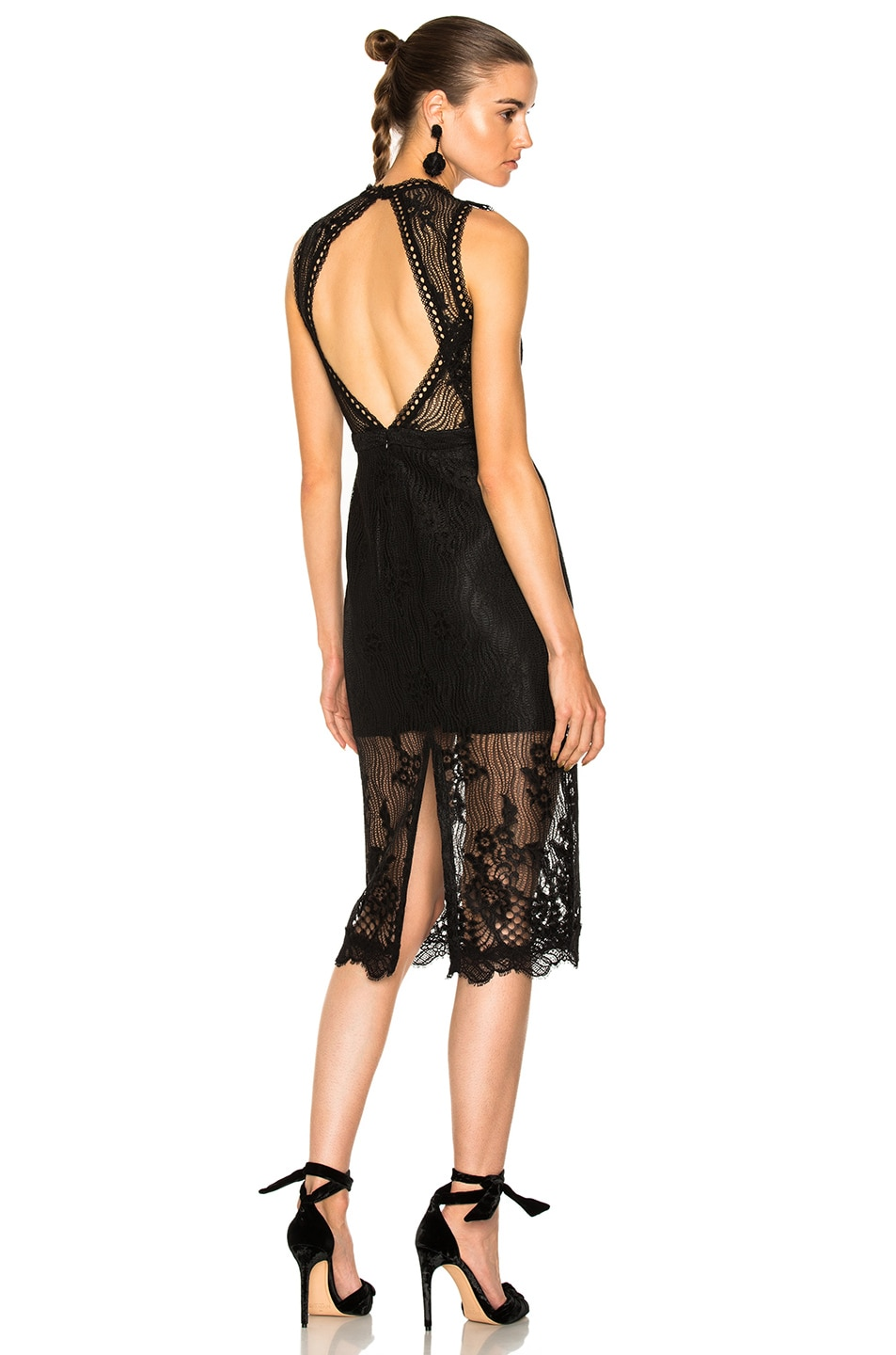 Image 1 of Alexis Oralie Dress in Black Lace