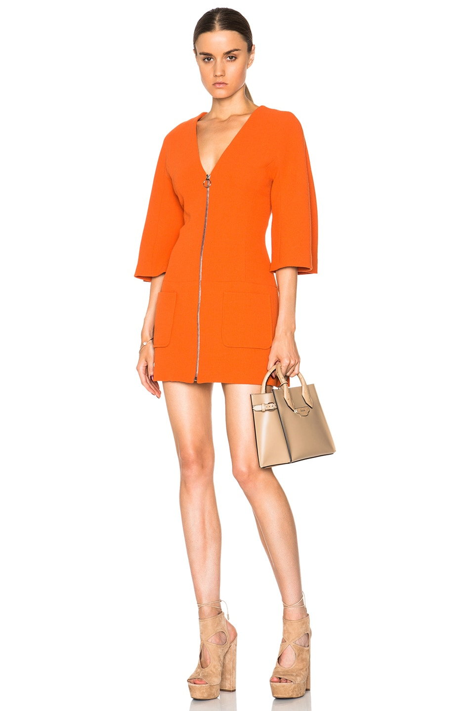 Image 1 of Alexis Dominique Kimono Dress in Orange