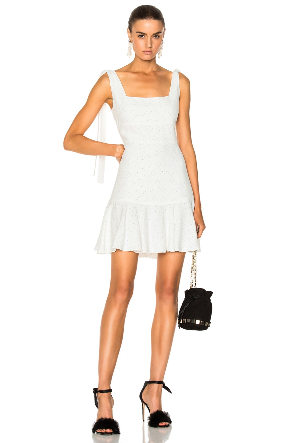 Image 1 of Alexis Jazz Dress in White Micro Dot