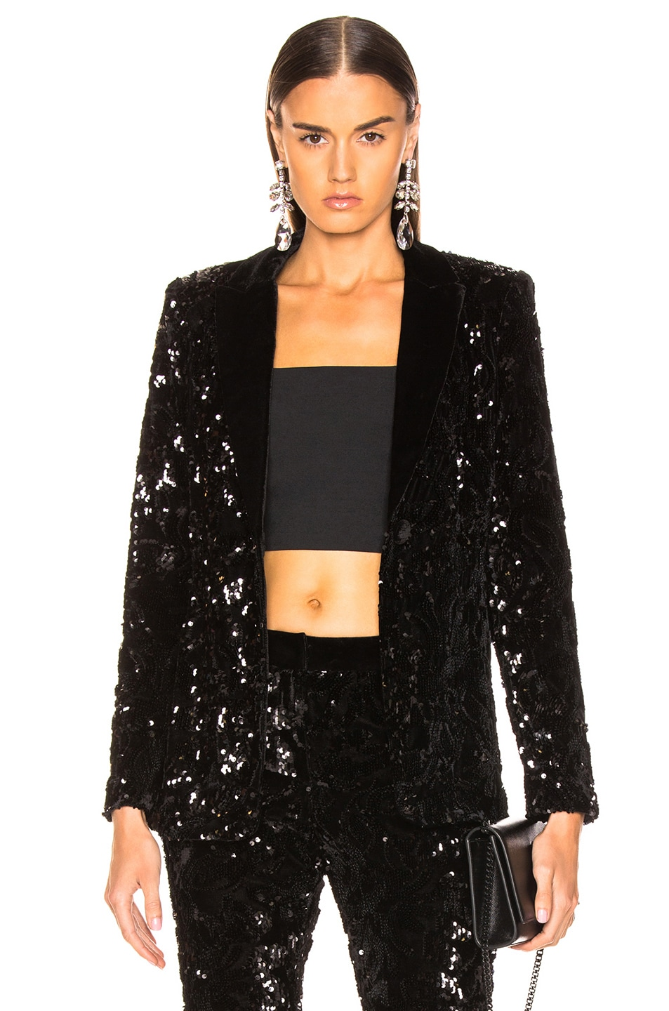 Image 1 of Alexis Rashida Jacket in Black Sequins