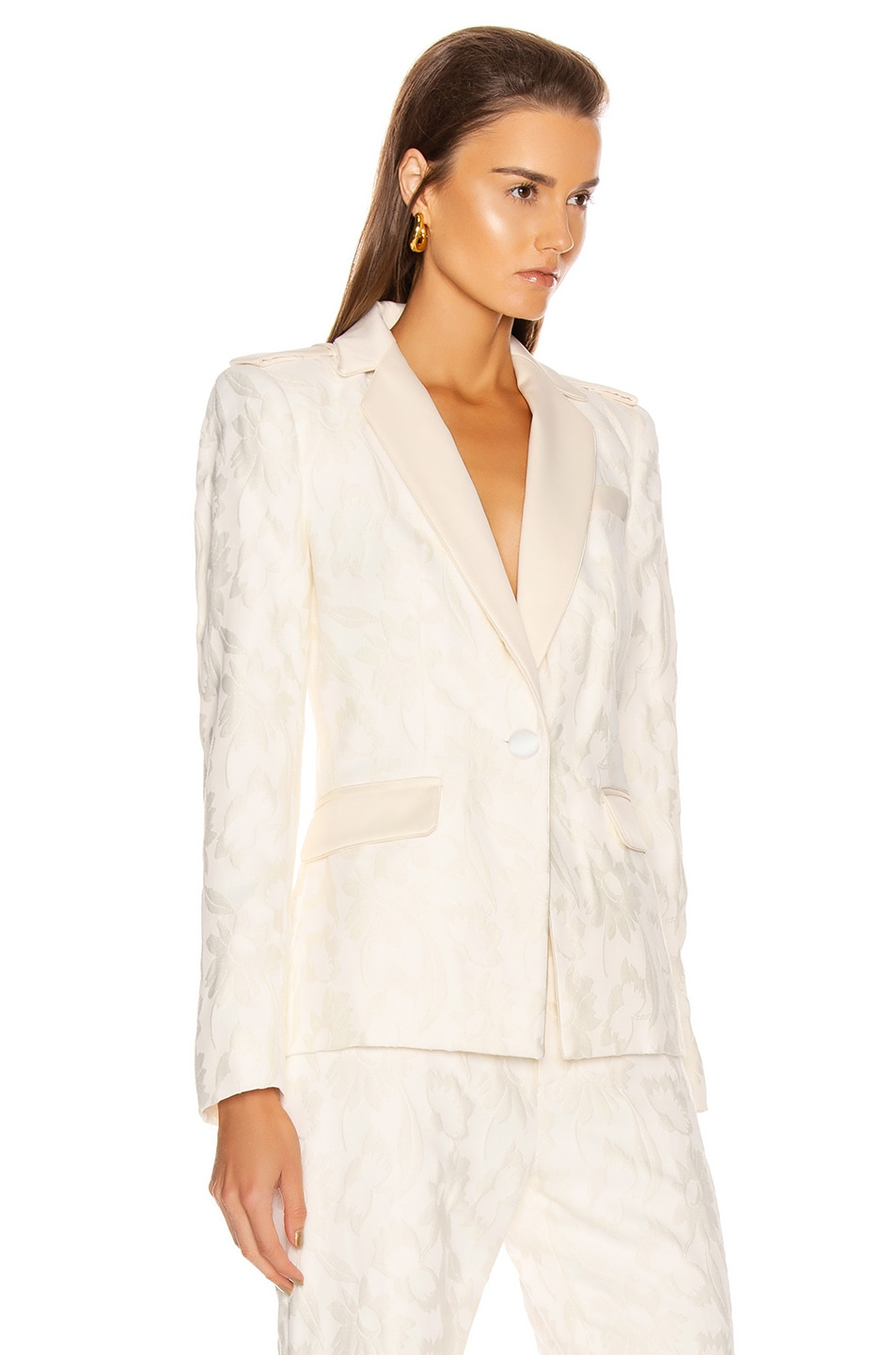 Image 2 of Alexis Claudya Jacket in White Floral Jacquard