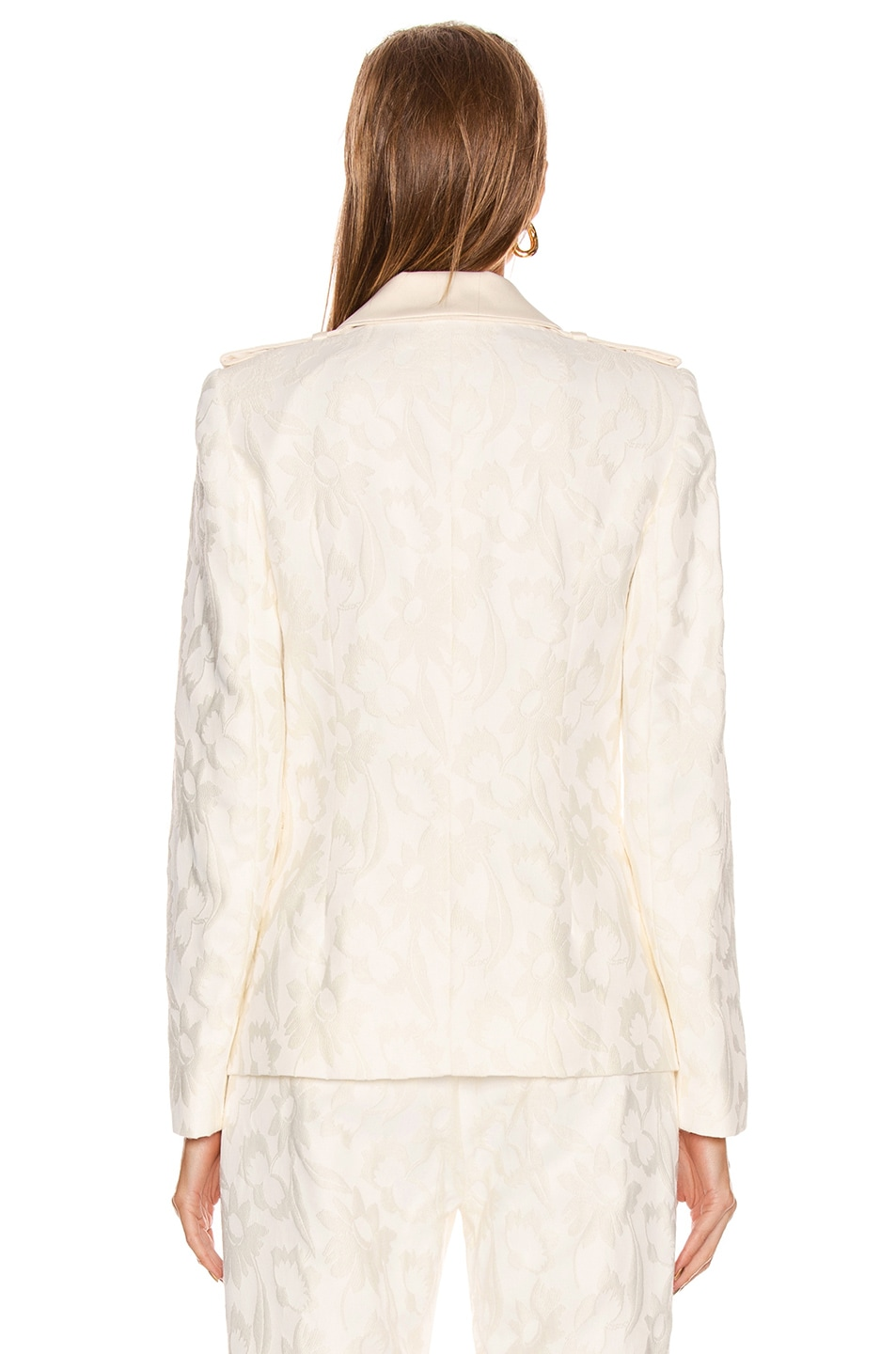 Image 3 of Alexis Claudya Jacket in White Floral Jacquard