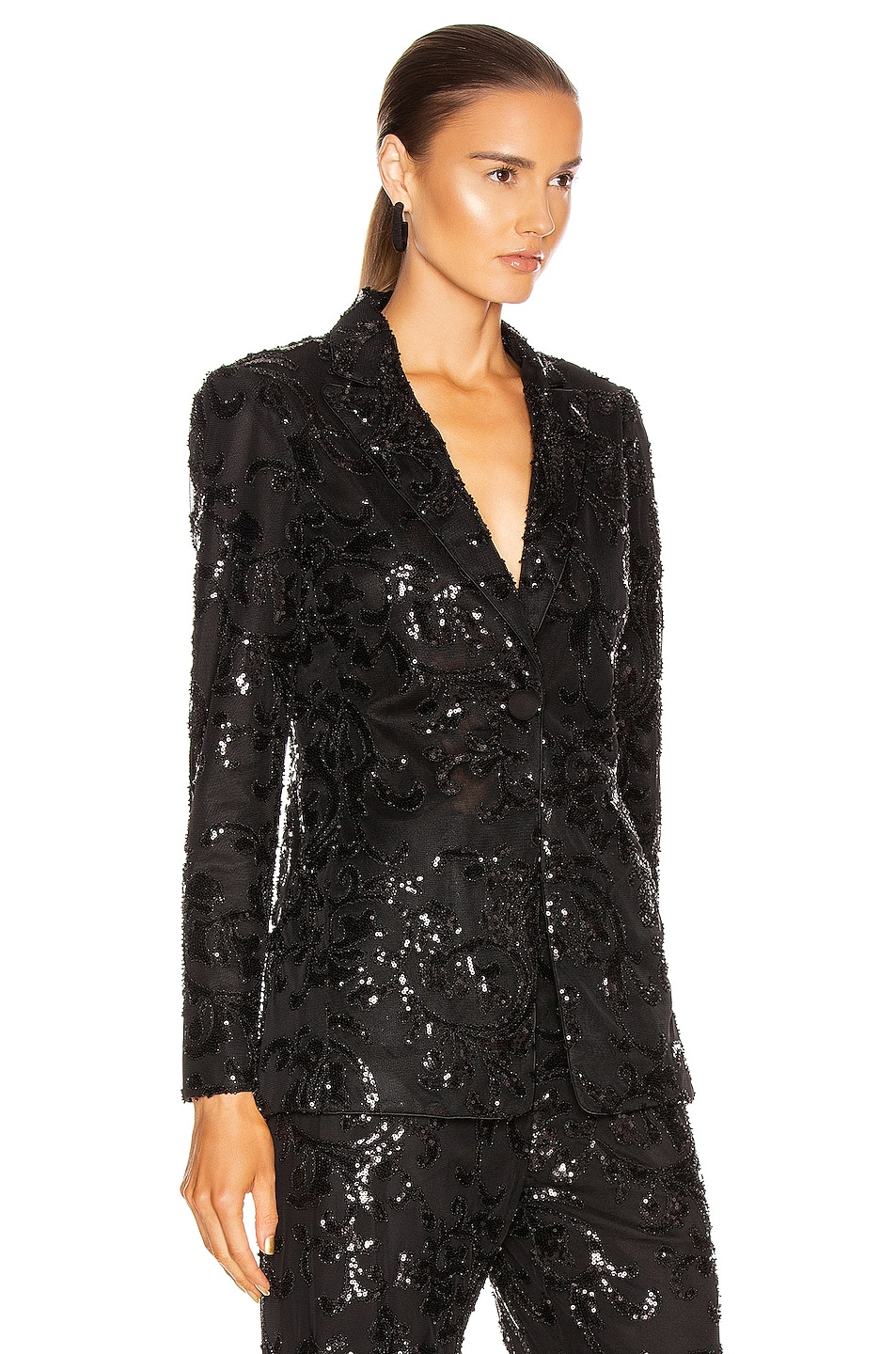Image 2 of Alexis Firdas Jacket in Beaded Black