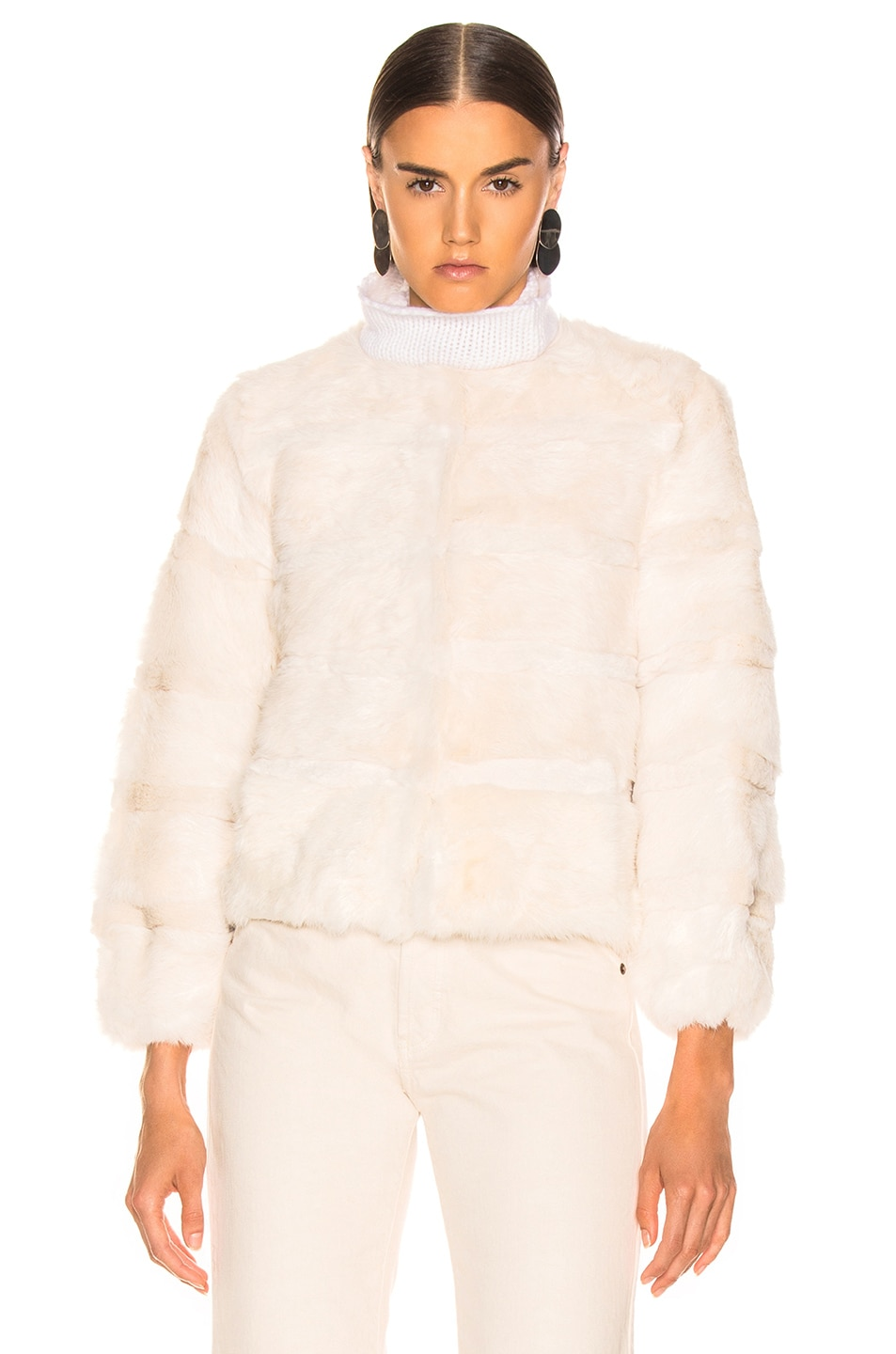 Image 2 of Alexis Amos Fur Jacket in Ivory