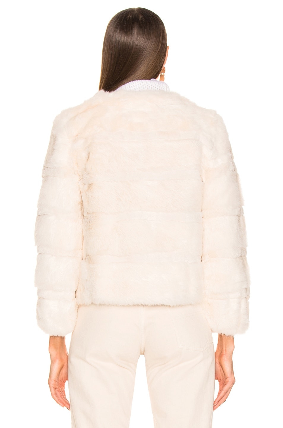 Image 4 of Alexis Amos Fur Jacket in Ivory