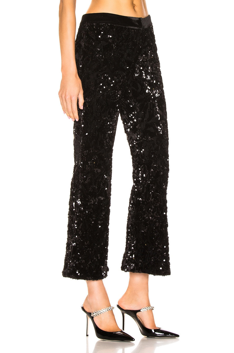 Image 2 of Alexis Pace Crop Pant in Black Sequins