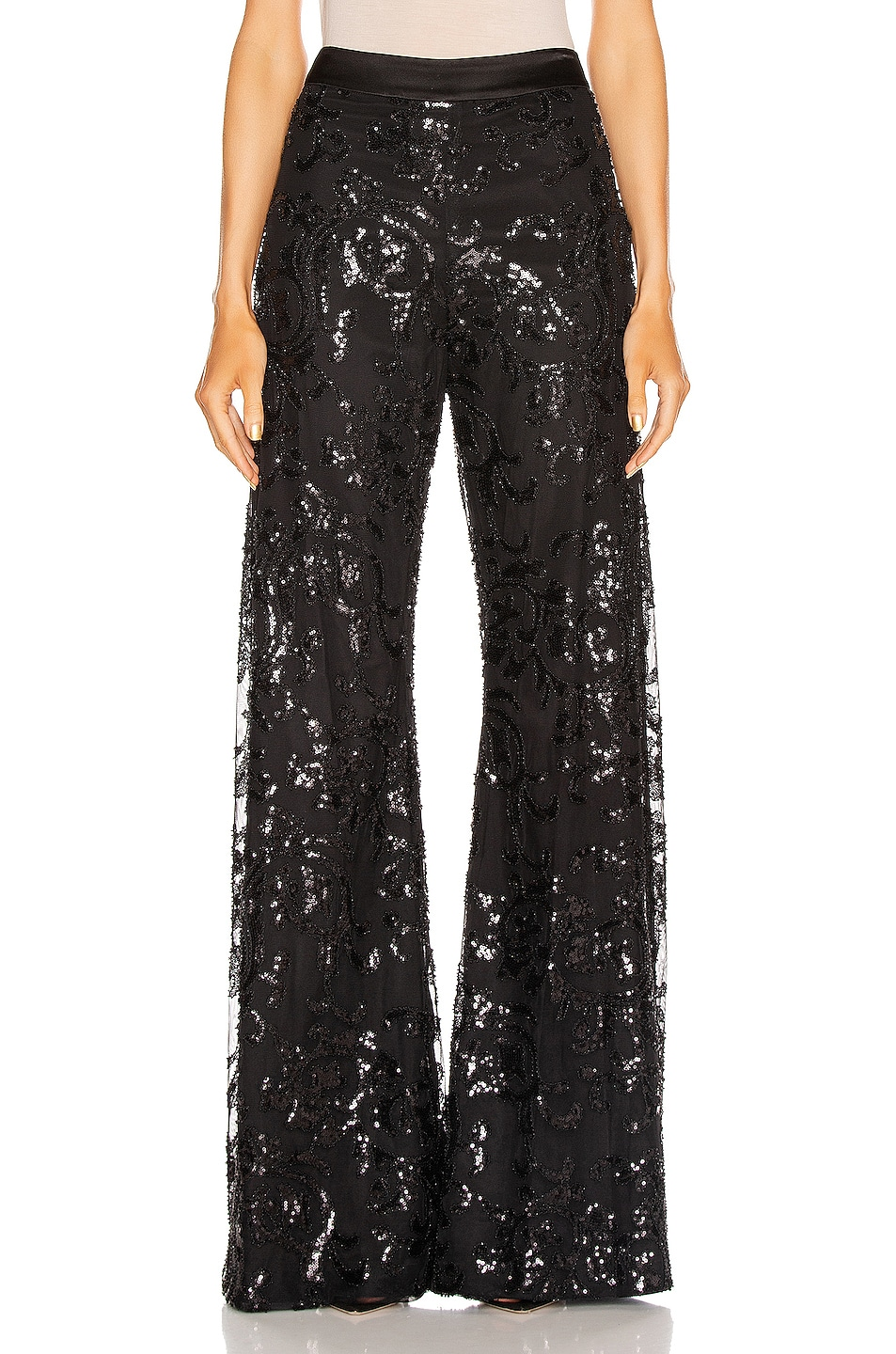Image 1 of Alexis Silvestro Pant in Beaded Black