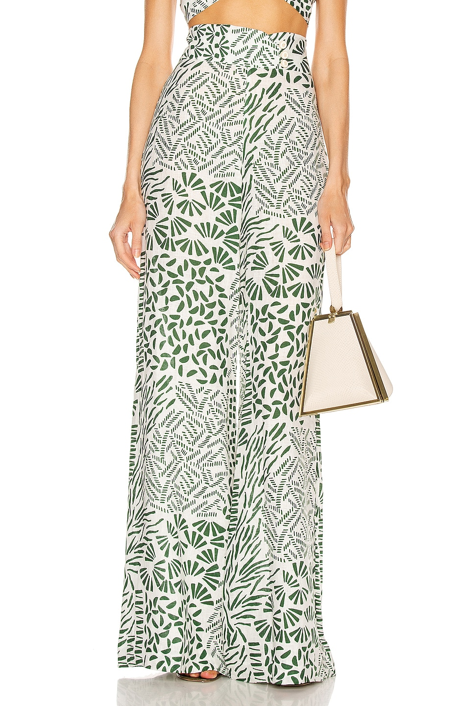 Image 1 of Alexis Neassa Pant in Green Abstract