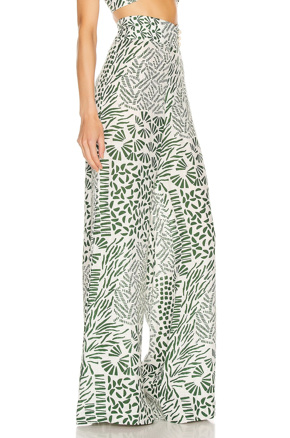 Image 2 of Alexis Neassa Pant in Green Abstract