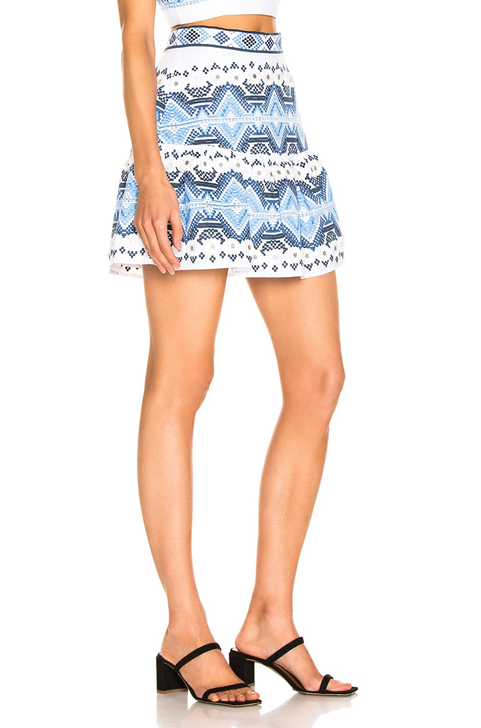 Image 2 of Alexis Lucille Skirt in Rich Embroidery Blue