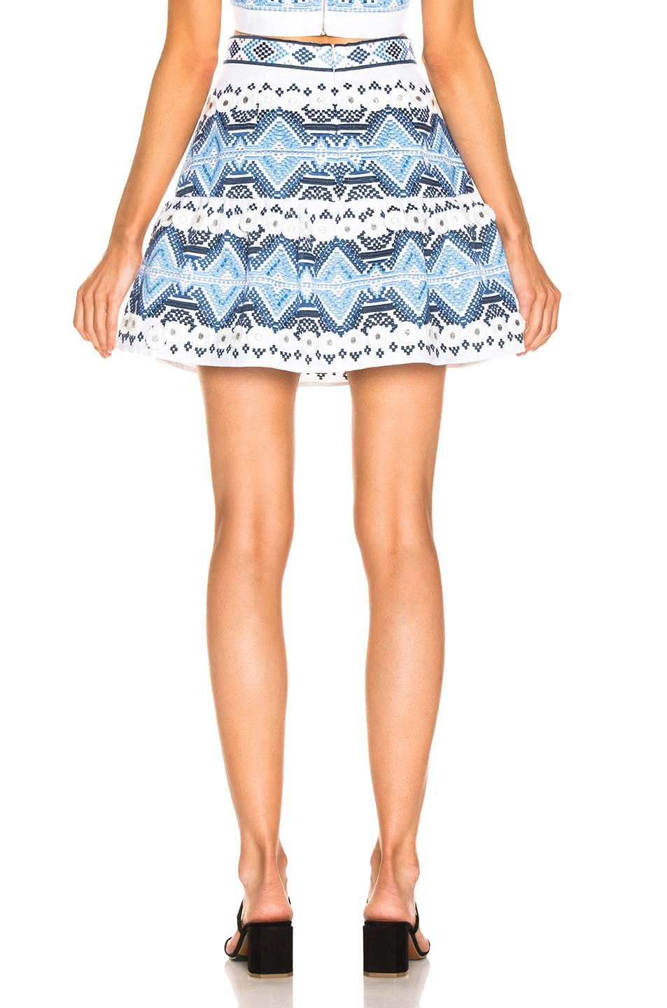 Image 3 of Alexis Lucille Skirt in Rich Embroidery Blue