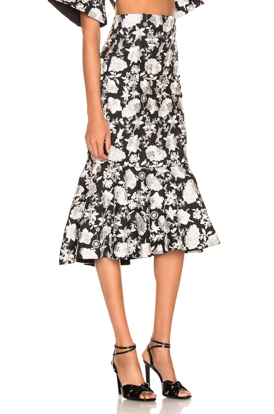 Image 2 of Alexis Reece Skirt in Ivory Floral Embroidery