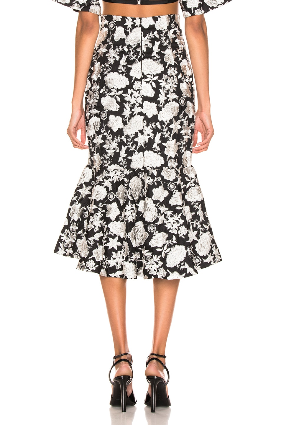Image 3 of Alexis Reece Skirt in Ivory Floral Embroidery