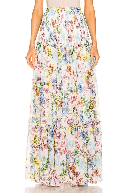Image 1 of Alexis Roshan Skirt in Eden Floral Ivory