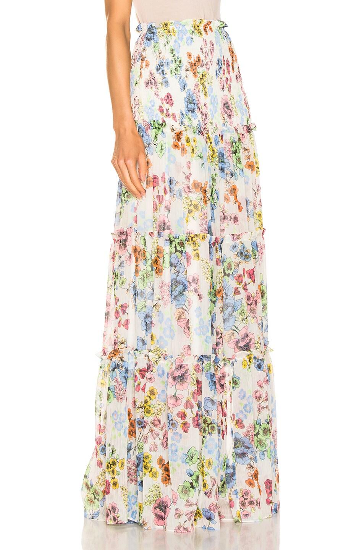 Image 2 of Alexis Roshan Skirt in Eden Floral Ivory