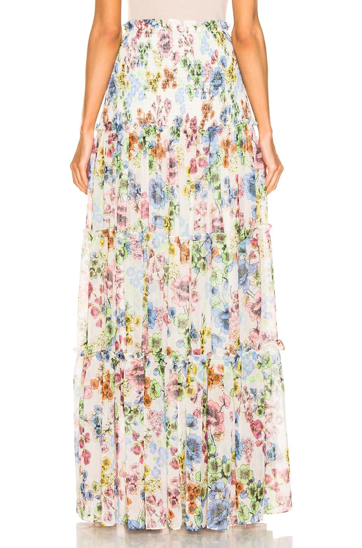 Image 3 of Alexis Roshan Skirt in Eden Floral Ivory