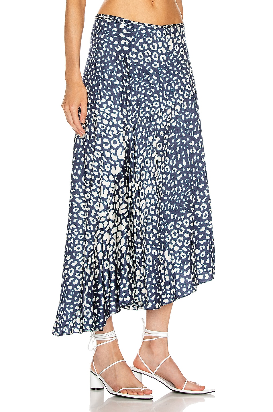 Image 2 of Alexis Fontaine Skirt in Marine Leopard