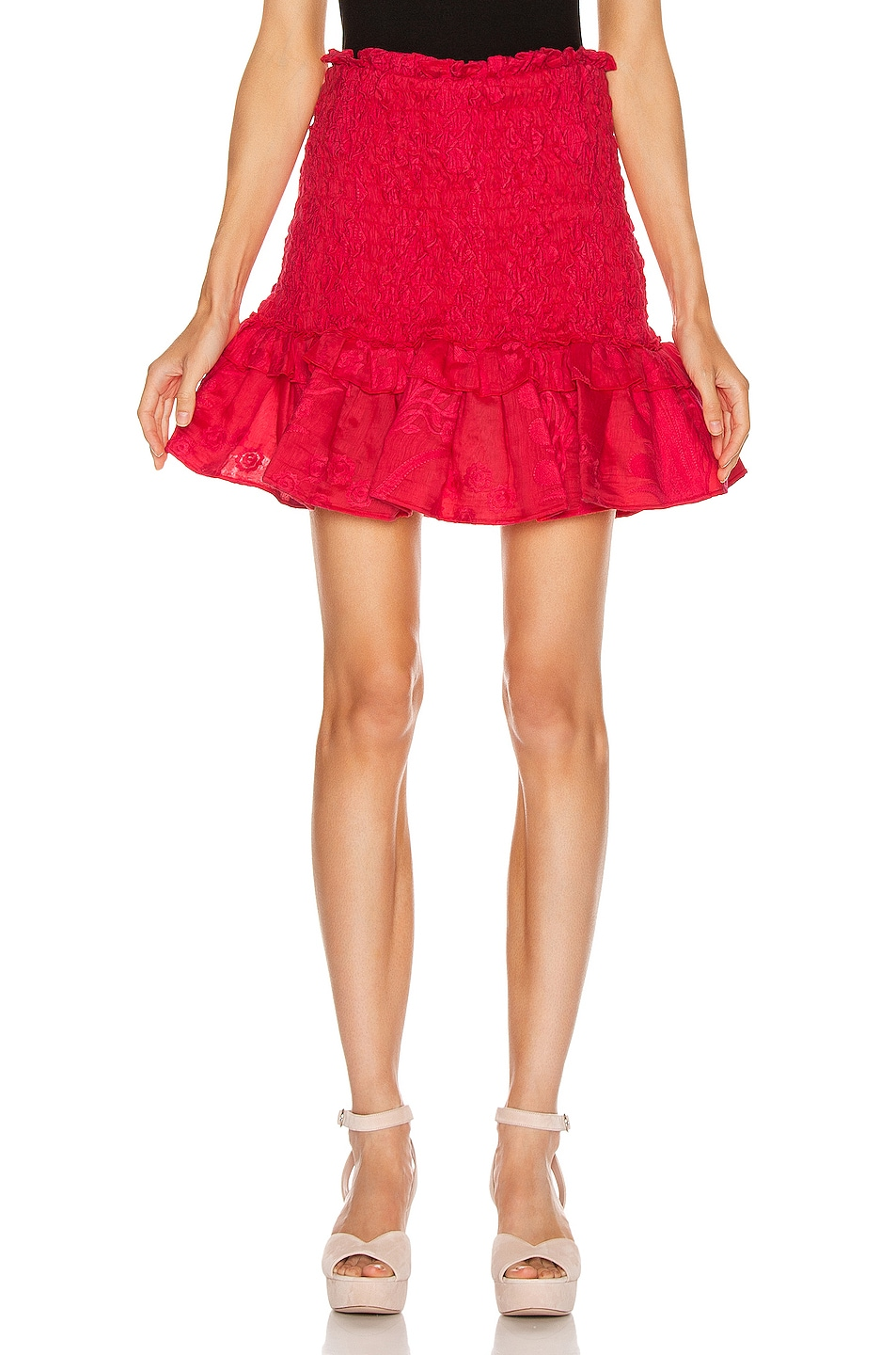 Image 1 of Alexis Nedusa Skirt in Red Azalea