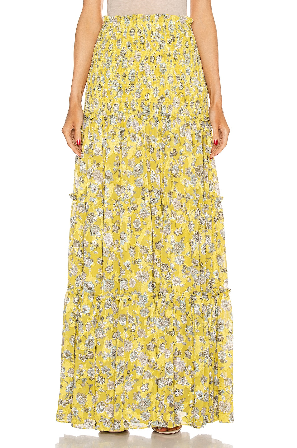 Image 1 of Alexis Galarza Skirt in Citron Floral