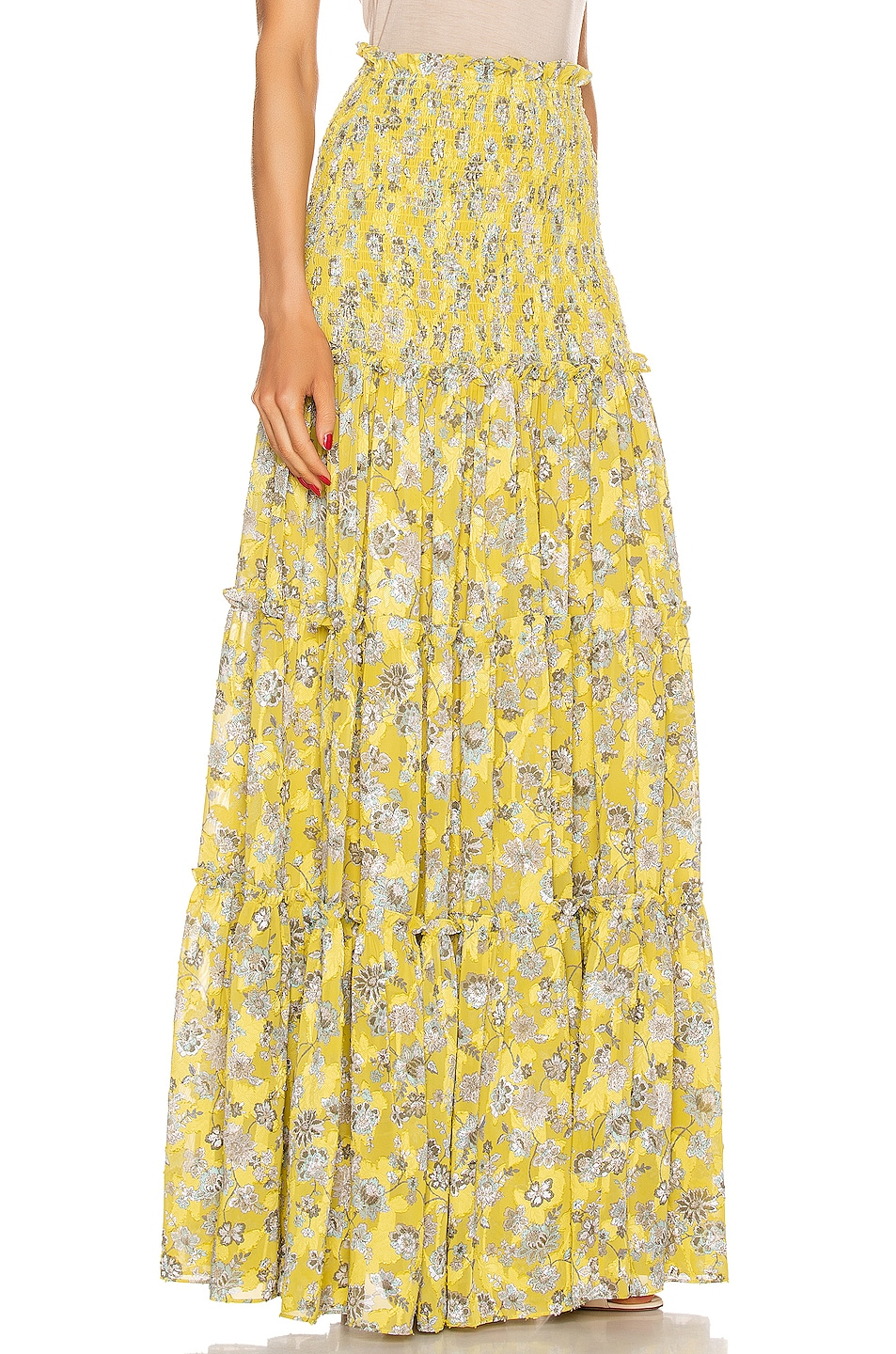 Image 2 of Alexis Galarza Skirt in Citron Floral