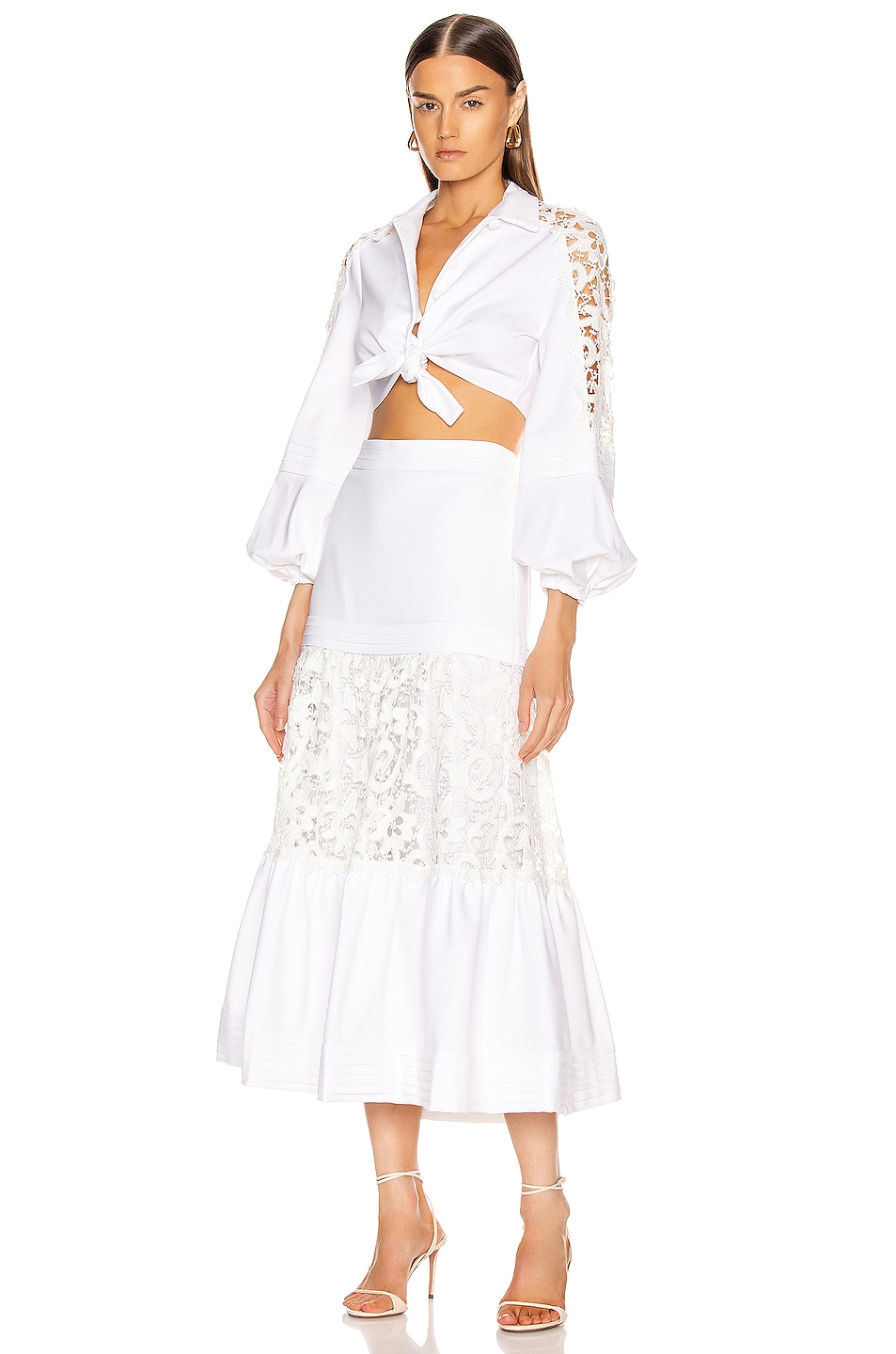 Image 4 of Alexis Gwenda Skirt in White
